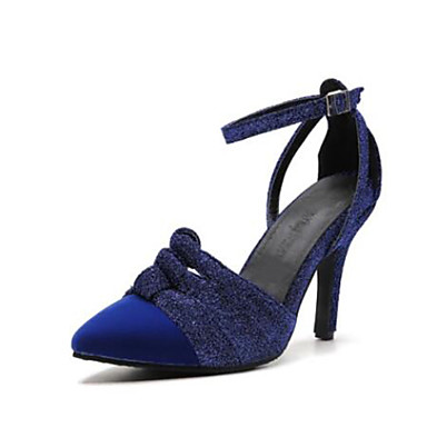 38a4ae5107d48 رخيصةأون أحذية النساء-نسائي فرو ظبي للربيع والصيف كعوب كعب ستيلتو حذاء براس  مدبب بني
