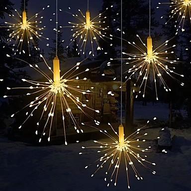 Недорогие LED ленты-фейерверк свет складной букет формы светодиодные строки декоративные сказочные огни для гирлянды патио свадьба рождественский свет