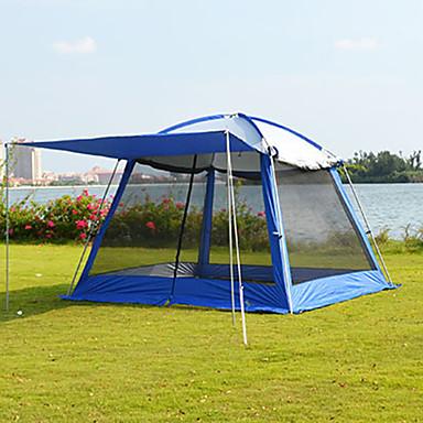 8 أشخاص خيمة شفافة في الهواء الطلق ضد الهواء مكتشف الأمطار طبقات مزدوجة قطب الماسورة خيمة التخييم 2000-3000 mm إلى السفر تنزه قماش اكسفورد 300*300*215 cm