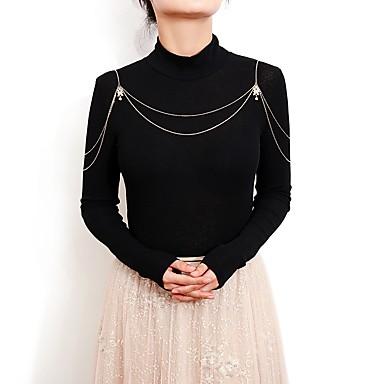 Corp lanț / burtă lanț Pentru femei Auriu / Argintiu Bijuterii de corp Pentru Nuntă / Petrecere / Logodnă / Cadou / Măr