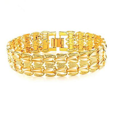 3840fa8976b Chaînes Bracelets Homme Acier au titane Chanceux Elégant Bracelet Bijoux  Dorée Forme Géométrique pour Cadeau Quotidien