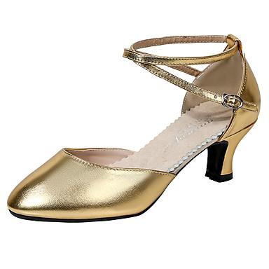 a210ba664f7c Dámské Boty na moderní tance Umělá kůže Podpatky Tlustá podpatku Taneční  boty Černá   Stříbrno šedá   Červená