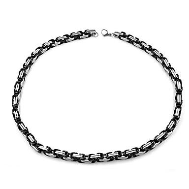 povoljno Modne ogrlice-Muškarci Lančići Klasičan Mariner Chain XOXO Jednostavan Klasik Moda Tikovina Crn 60 cm Ogrlice Jewelry 1pc Za Dar Dnevno Ulica Festival