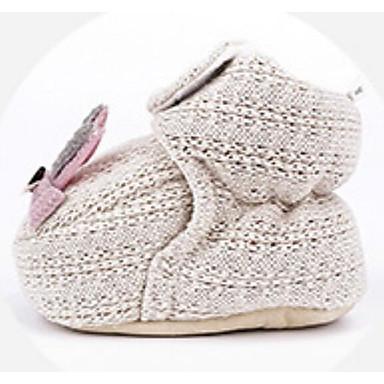 voordelige Babyschoenentjes-Meisjes Katoen Laarzen Zuigelingen (0-9m) Comfortabel / Eerste schoentjes Groen / Roze / Khaki Winter / Korte laarsjes / Enkellaarsjes