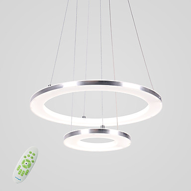 Circular Pendant Light Ambient Light Others Metal Acrylic LED 90-240V Warm White / White / Dimmable With Remote Control LED Light Source Included / LED Integrated