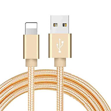 billige Nyheder-lyn usb kabel adapter flettet kabel til iphone 100 cm til nylon