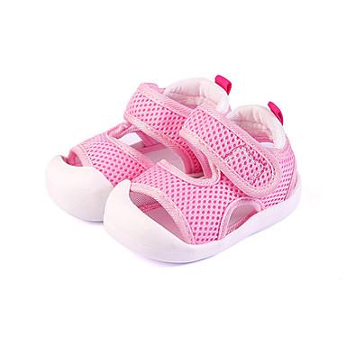 voordelige Babyschoenentjes-Jongens / Meisjes Comfortabel Netstof Sandalen Peuter (9m-4ys) Donkerblauw / Rood / Roze Zomer / Rubber
