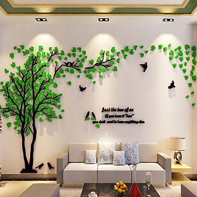 Decorative Wall Stickers - 3D Wall Stickers / Mirror Wall Stickers Floral / Botanical Indoor / Removable