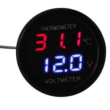 povoljno Mjerač tlaka u gumama-automobil vodio digitalno crveno&plavi zaslon 2 u 1 dvostruki voltmetarski termometar 12v