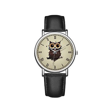 baratos Relógios Homem-Homens Relógio Elegante Quartzo Couro Preta / Marrom 30 m Cronógrafo Criativo Novo Design Analógico Casual Desenho - Preto Café Marron Dois anos Ciclo de Vida da Bateria