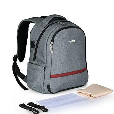 سحاب حقيبة حفاضات نايلون مناسب للبس اليومي أسود / رمادي / أحمر داكن / خريف & شتاء