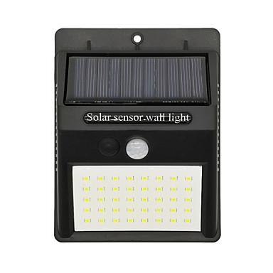 billige Utendørsbelysning-2pcs 7 W Solar Wall Light Vanntett / Solar / Infrarød sensor Kjølig hvit 3.7 V Utendørsbelysning / Courtyard / Have 35 LED perler