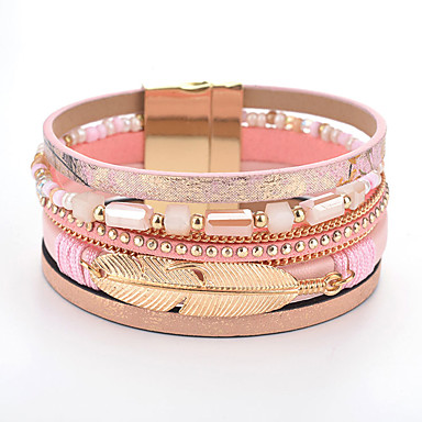 Women's Classic Bracelet Bangles Botanical Classic Sweet Fashion Cute Elegant Bracelet Jewelry Coffee / Pink / Light Blue For Graduation Daily Carnival Club Festival