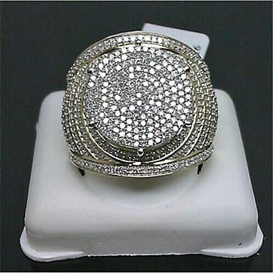 billige Motering-Dame Løftering Micro Pave Ring Kubisk Zirkonium 1pc Gull Gullbelagt Geometrisk Form Stilfull Fest Daglig Smykker Klassisk Glede Kul