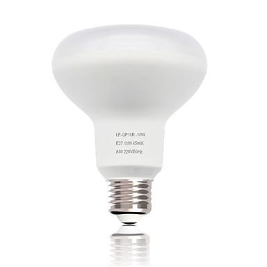 abordables Ampoules électriques-zdm 1pc r80 e27 / e26 ampoule de champignon 18w 1550 lm smd 2835 nouveau design décoratif blanc froid ac220v