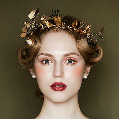 baratos Bijuteria de Mulher-Mulheres Vintage Fashion Ouro Liga Floral