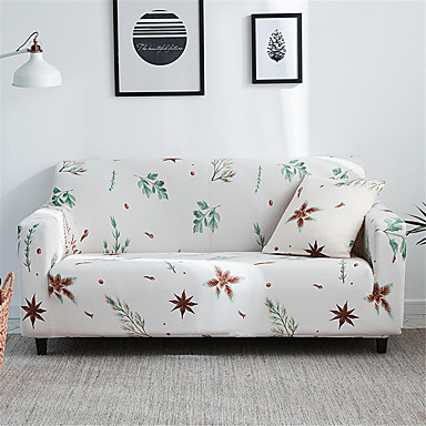 Outstanding Leaves Print Durable Soft High Stretch Slipcovers Sofa Cover Ncnpc Chair Design For Home Ncnpcorg