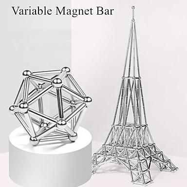 63 pcs Magnetisch speelgoed Magnetische ballen Magnetische stokken Bouwblokken Neodymium magneet metallinen Magnetisch Stress en angst Relief Kantoor Bureau Speelgoed Relieves ADD, ADHD, Angst