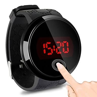 baratos Relógios Homem-Homens Relogio digital Digital Borracha Preta 30 m Impermeável Tela de toque Relógio Casual Digital LED Fashion - Preto Um ano Ciclo de Vida da Bateria / Aço Inoxidável