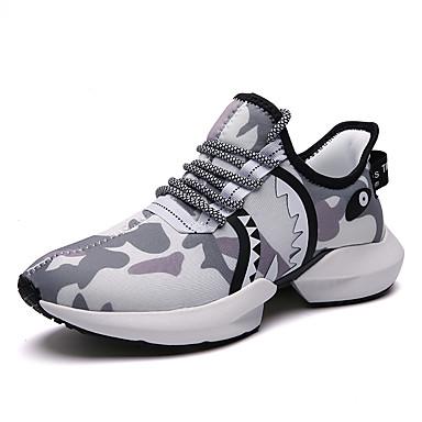 Erkek Ayakkabı Örümcek Ağı Sonbahar Kış Günlük Atletik Ayakkabılar Koşu / Fitnes Çalışması Günlük / Dış mekan için Siyah / Beyaz / Gri / Haki / Kamuflaj Rengi