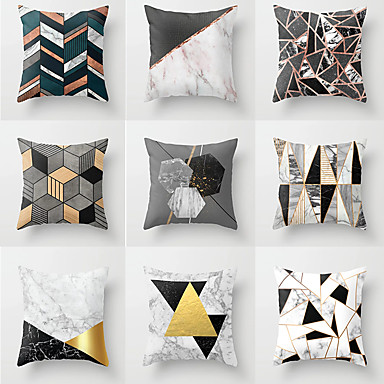 1 Pcs Polyester Pillow Cover Geometic Neoclical Throw