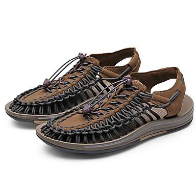 povoljno Summer Sales-Muškarci Udobne cipele Mikrovlakana Ljeto Sandale Braon / Crno / crvena / Bijela / plava