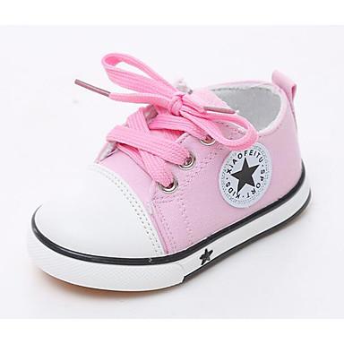 voordelige Babyschoenentjes-Meisjes Comfortabel Canvas Sneakers Peuter (9m-4ys) Rood / Blauw / Roze Lente