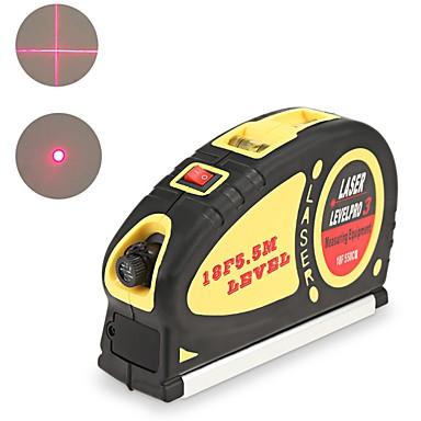 voordelige Waterpasinstrumenten-laser niveau horizon verticale maat aligner standaard en metrische heersers multifunctionele maatregel niveau laser