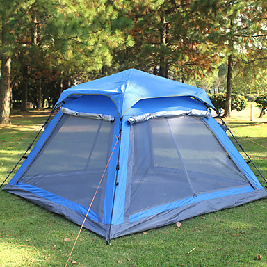 Sleeping Bags Responsible Outdoor Travel Camping Gear 70*210cm Polyester Sleeping Bag+automatic Instant Pop Up Hiking Tent 240 *180*100cm For 3-4 Persons At Any Cost