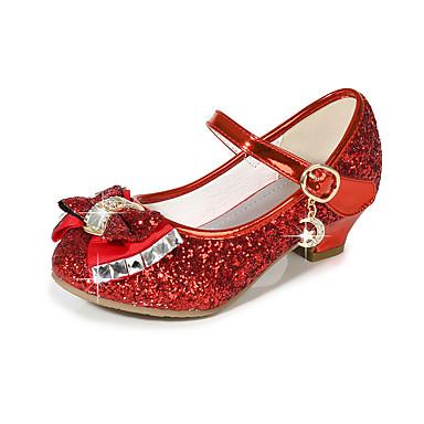 preiswerte Schuhe für Kinder-Mädchen Kunststoff High Heels Kinder Schuhe für das Blumenmädchen Schleife / Paillette Schwarz / Purpur / Gold Sommer / Party & Festivität / TPR (Thermoplastisches Gummi)