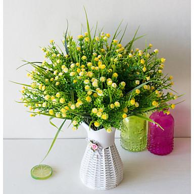 פרחים מלאכותיים 1 ענף יחיד כפרי סגנון מינימליסטי גיבסנית פרחים לשולחן