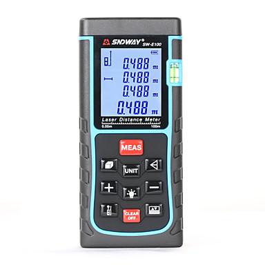voordelige Test-, meet- & inspectieapparatuur-sw-e100 laser afstandsmeter met bellenniveau afstandsmeter afstandsmeter meetlint groothandel oem