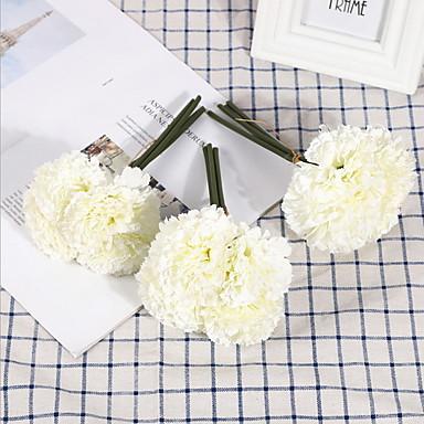 פרחים מלאכותיים 1 ענף קלאסי מסורתי ציפורן פרחים לשולחן