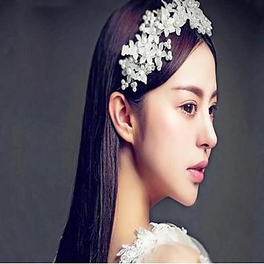 Mix עם דמוי פנינה / פרח חלק 1 חתונה / לבוש יומיומי כיסוי ראש