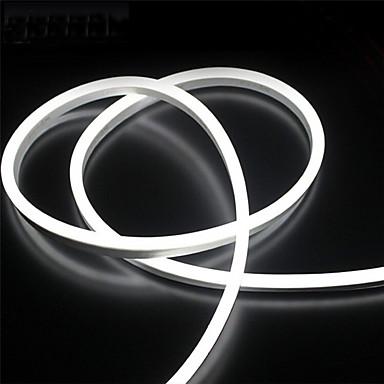 abordables Bandes Lumineuses LED-Le silicone de 2m 12v a mené des lumières de bande imperméables flexibles au néon de corde pour des lettres décoratives extérieures de bricolage