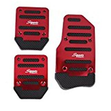 3pcs ללא להחליק מרוץ ידני משאית רכב הדוושות כרית לכסות להגדיר אדום
