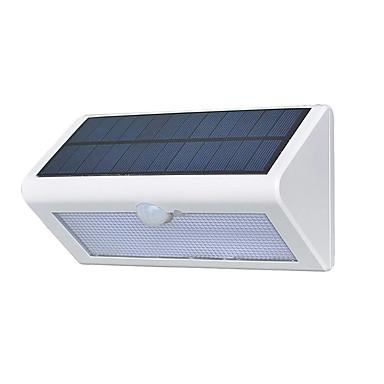 1pc 4 W תאורת קירות חוץ / אור רחוב / השמש אור השמש עמיד במים / סולרי / חיישן איפרא אדום לבן 3.7 V תאורת חוץ / בריכת שחיה / חָצֵר 38 LED חרוזים