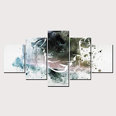 דפוס הדפסי בד מגולגל - אנשים סרט מצויר קלסי מודרני חמישה פנלים הדפסים אמנותיים