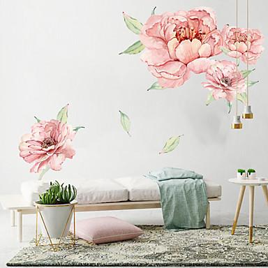 גדול ורוד פרחים מדבקות קיר - מילים& ציטוטים ampamp קיר מדבקות תווים חדר לימוד / משרד / חדר אוכל / מטבח