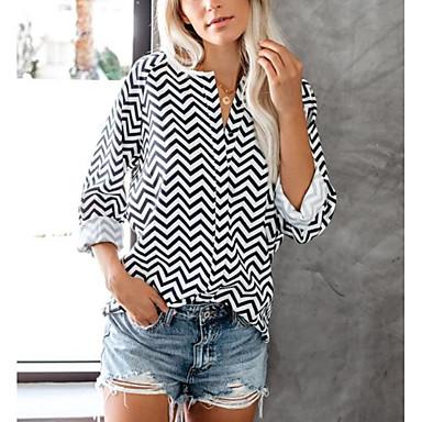 billige Nyheder-Dame - Stribet Net Gade T-shirt Sort US6