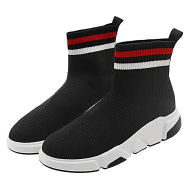 povoljno Ženske čizme-Žene Tissage Volant Jesen zima Čizme Skrivena peta Čizme gležnjače / do gležnja Crn