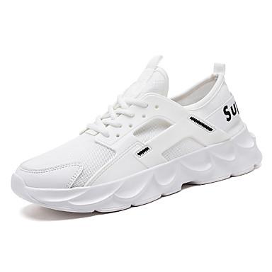 Erkek Ayakkabı Örümcek Ağı Yaz Sportif / Günlük Atletik Ayakkabılar Koşu / Yürüyüş Günlük / Dış mekan için Siyah / Beyaz / Bej