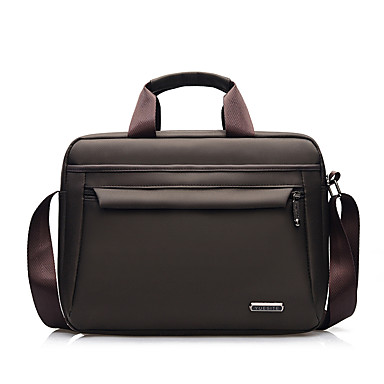 320f8fd5f Men's Zipper Briefcase Waterproof Oxford Cloth / Synthetic Solid Color  Black / Brown