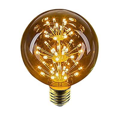 abordables Ampoules électriques-1pc 2.5 W 100 lm E26 / E27 Ampoules Globe LED 49 Perles LED LED Dip Décorative Jaune 220-240 V / 1 pièce / RoHs