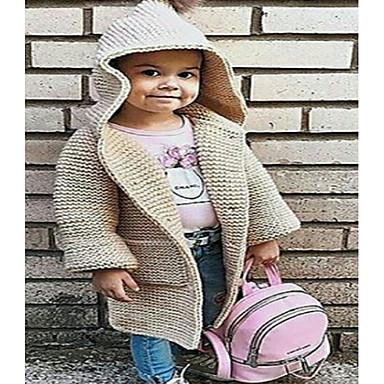 baratos Blusas para Meninas-Infantil Para Meninas Básico Sólido Manga Longa Blusa Vermelho