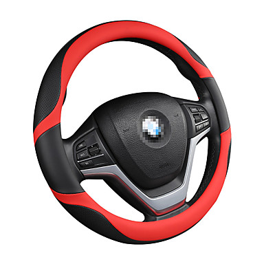 cheap Steering Wheel Covers-Car steering wheel cover carbon fiber fashionable lovely men and women four seasons gm car /Black/Purple/Red/Beige /Gray/Steering Wheel Covers / Genuine Leather 38cm