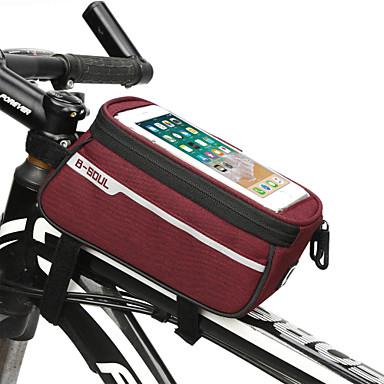 abordables Sacoches de Vélo-Sac de téléphone portable 6.2 pouce Cyclisme pour iPhone 8/7/6S/6 iPhone 8 Plus / 7 Plus / 6S Plus / 6 Plus iPhone X Noir Rouge Gris Foncé Vélo Cyclisme