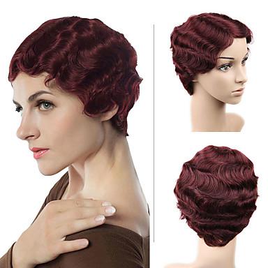 שיער ללא שיער שיער אנושי גלי תספורת בוב סגנון Party / נשים / סקסי ליידי קצר הוכן באמצעות מכונה פאה שיער ברזיאלי בגדי ריקוד נשים