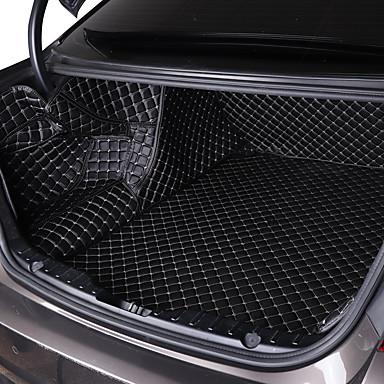 voordelige Auto-cabinematten-Autoproducten Trunk Mat Auto-cabinematten Voor Universeel Alle jaren Algemene motoren Leder