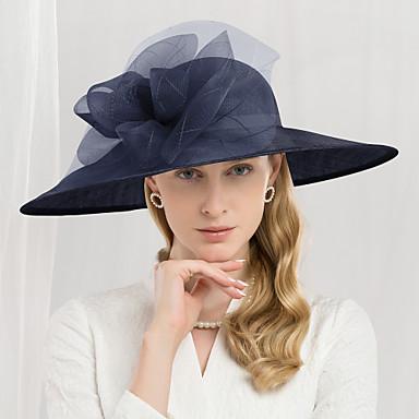 abordables Coiffes-100% Lin Kentucky Derby Hat / Chapeaux avec Fleur 1pc Mariage / Fête / Soirée Casque